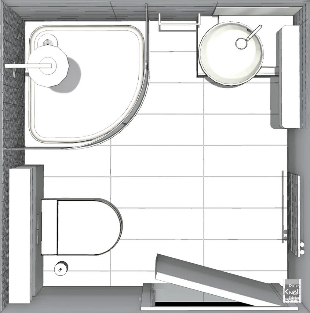 Exemples de plans pour gain de place dans de petites for Plan pour salle de bain