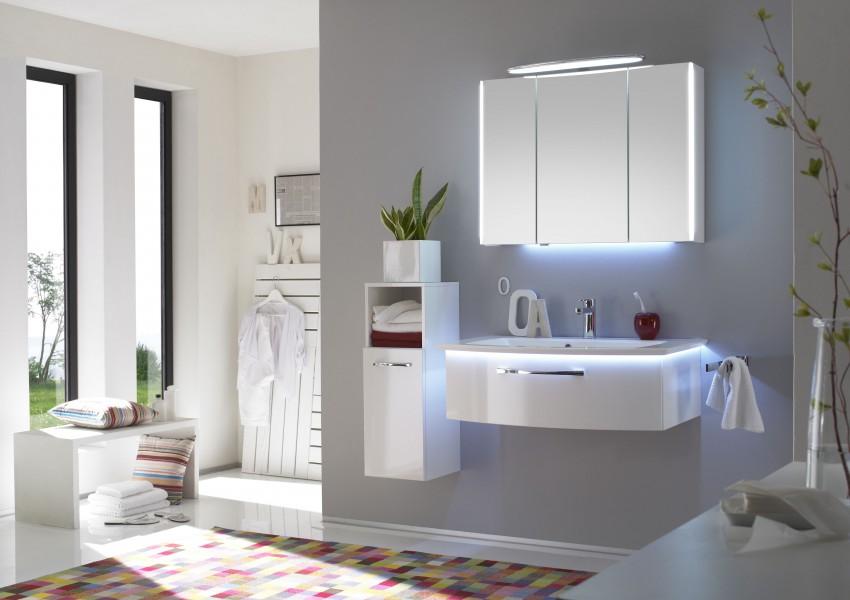 Mobilier de salle de bains courbe CONCEPT 1000 d'Alape