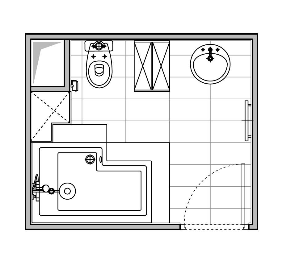 Exemple de plans de salles de bain de taille moyenne avec for Taille moyenne salle de bain