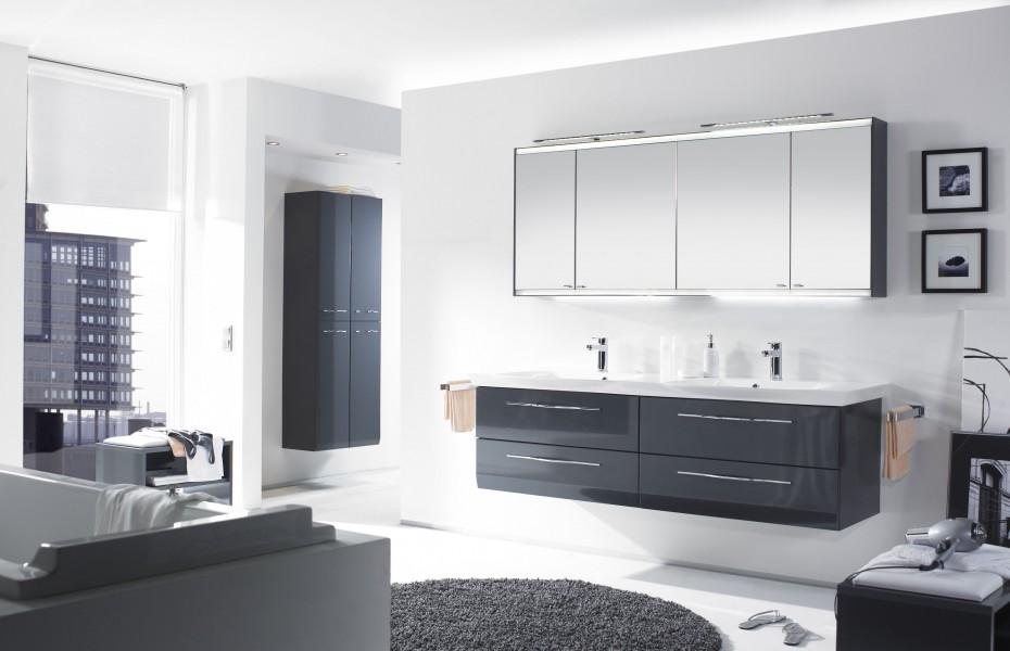 Mobilier double pour salle de bains VIALO d'Alape