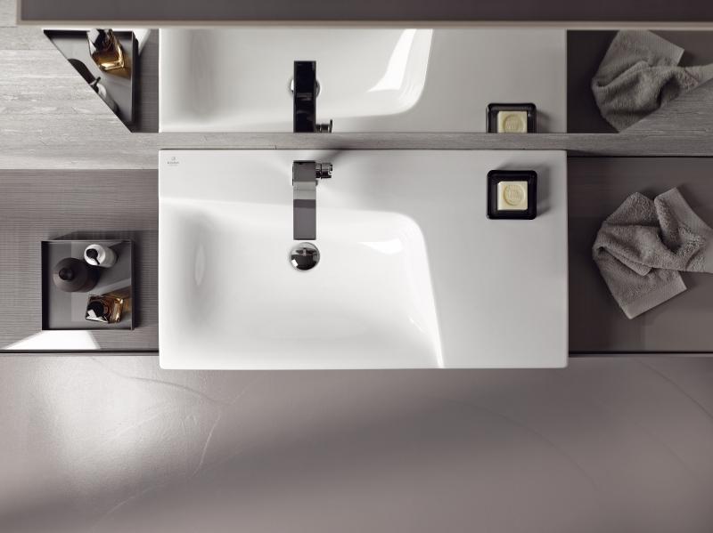 Sous-plan de toilette pour salle de bains XENO2 d'Allia