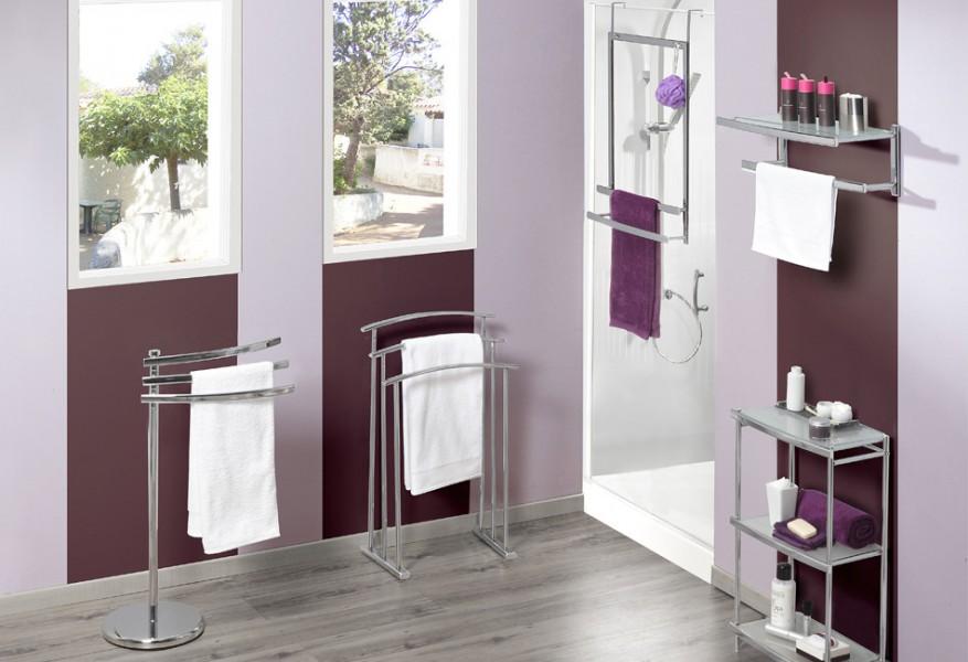 Porte-serviettes pour salle de bains OVALYS d'Allibert