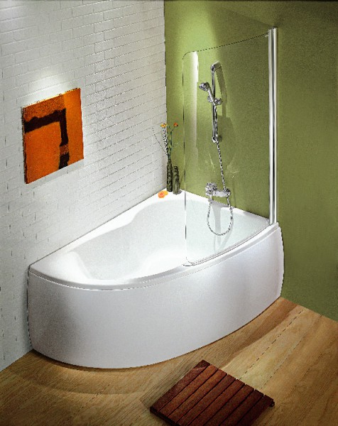Fiche produit sdb baignoire asym trique et d 39 angle for Baignoire duomega