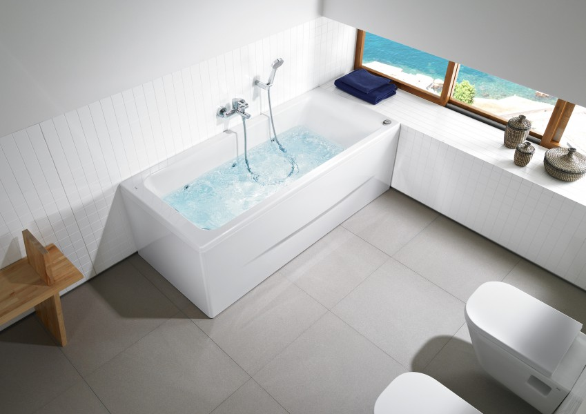 Baignoire balnéothérapie pour salle de bains EASY de Roca