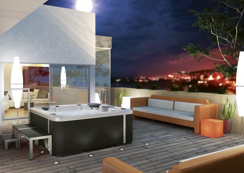 Baignoire spa A400 de Kinedo salle de bains