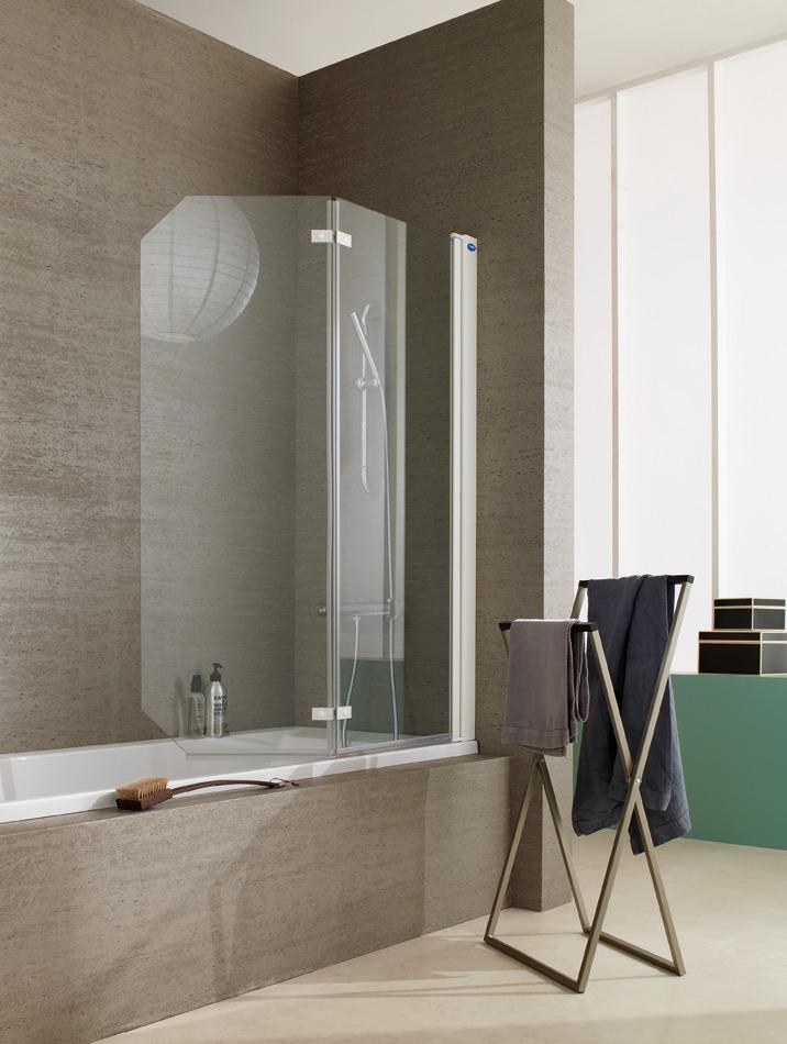 fiche produit de la salle de bains pare bains pivotant. Black Bedroom Furniture Sets. Home Design Ideas