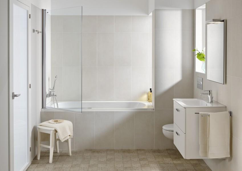 Pare-bains pivotant pour baignoire VICTORIA de Roca