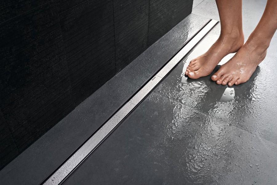 Caniveau de sol pour douche à carreler CLEANLINE de Geberit