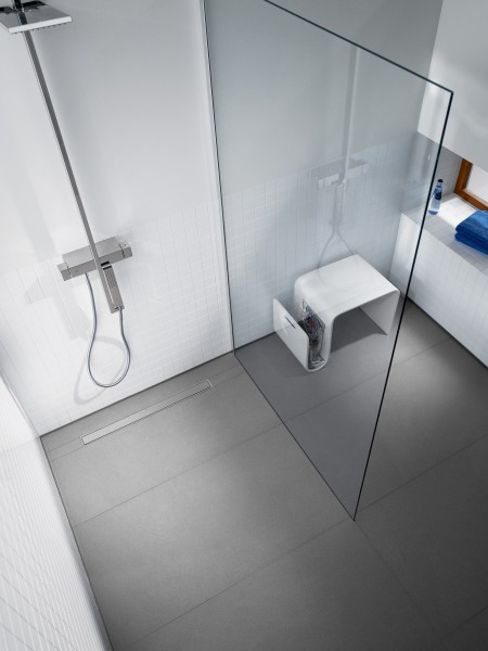 Caniveau de sol pour douche à carreler IN DRAN de Roca