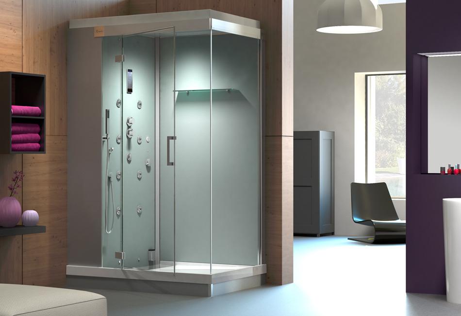 fiche produit de la sdb cabine de douche multifonctions. Black Bedroom Furniture Sets. Home Design Ideas