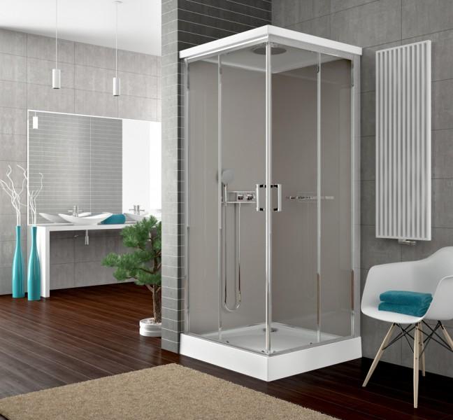 Cabine de douche simple pour salle de bains NEW CITY de Leda