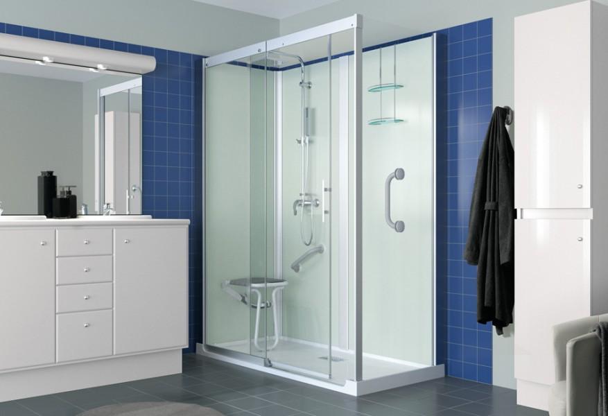 Douche cabine remplacement de baignoire KINEMAGIC HAPM de Kinedo salle de bains