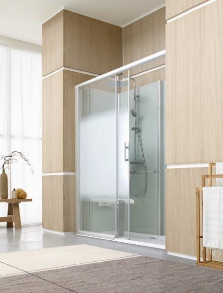 Douche cabine remplacement de baignoire BIEN-ETRE de Leda salle de bains
