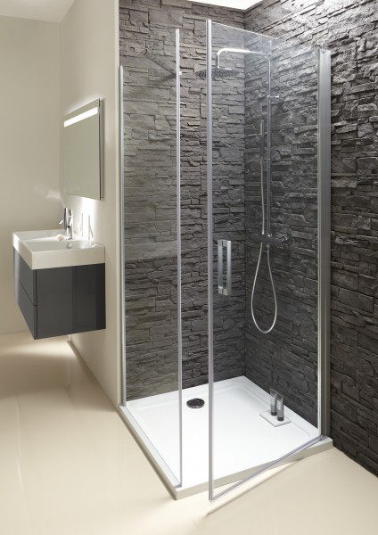 Paroi de douche battante pour salle de bains CONTRA de Jacob Delafon
