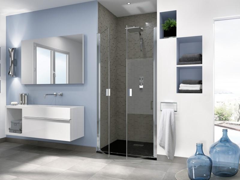 Paroi de douche battante pour salle de bains SMART OT de Kinedo