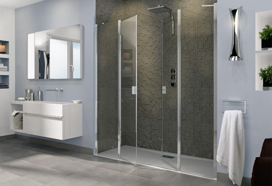 Paroi de douche battante pour salle de bains SMART OT 2P XL de Kinedo