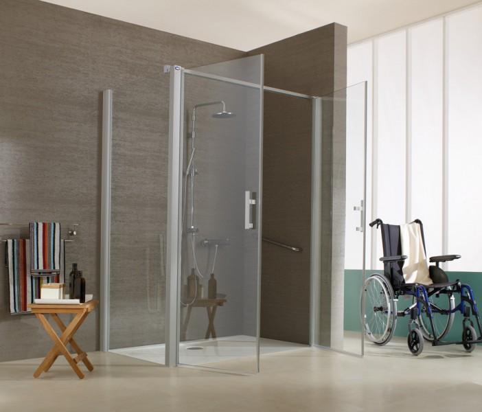 Paroi de douche battante pour salle de bains JAZZ de Leda