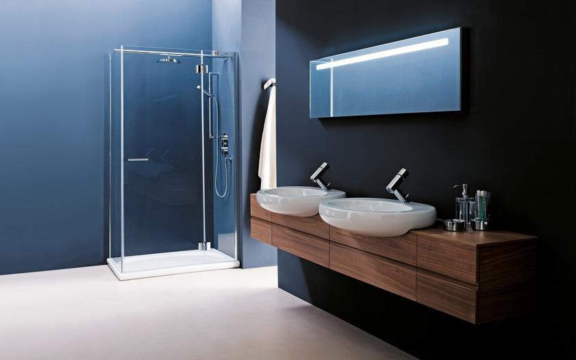 Paroi de douche pivotante pour salle de bains ILBAGNOALESSI ONE de Laufen