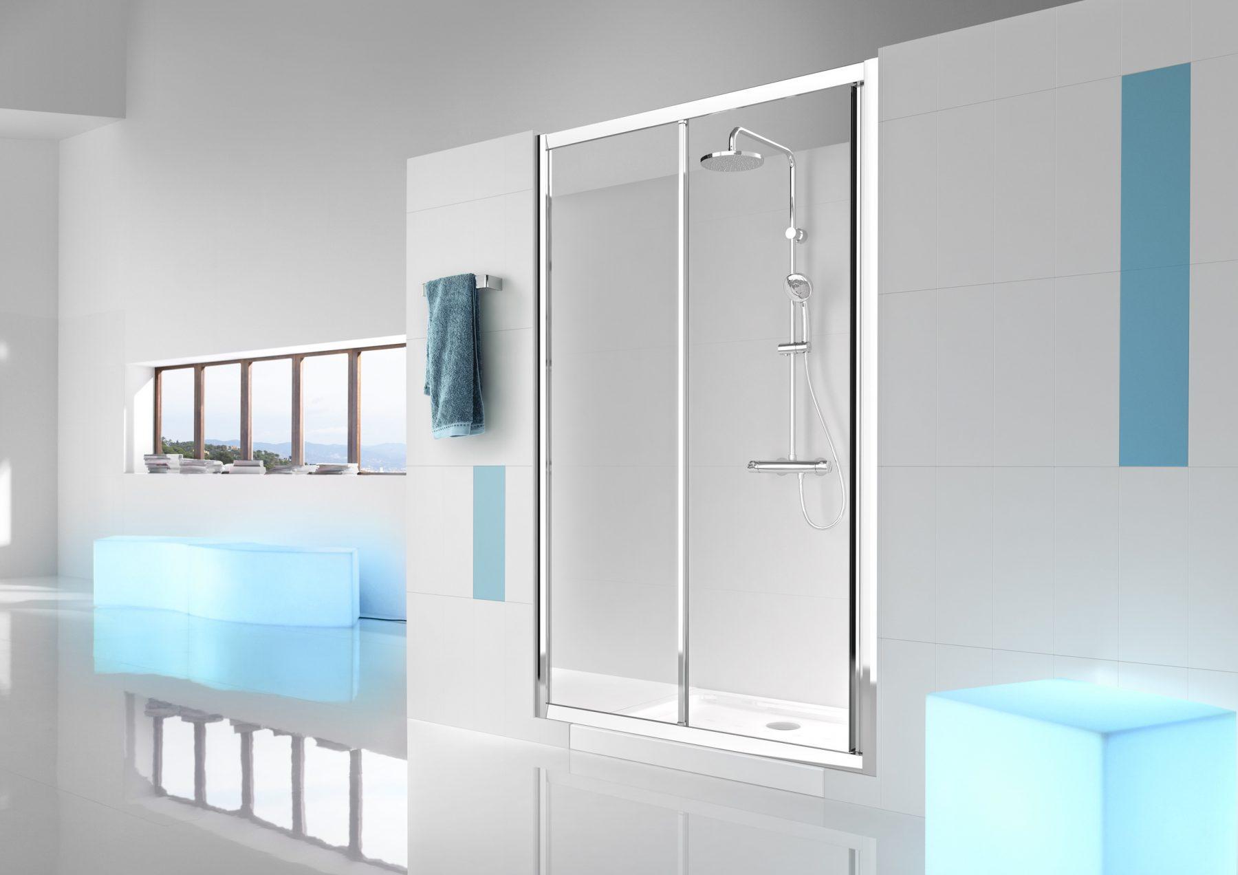 Fiche produit parois de douche porte coulissante - Porte coulissante scrigno fiche technique ...