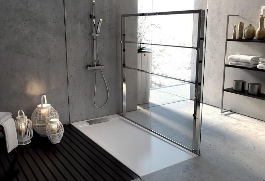 Receveur de douche à encastrer pour salle de bains SERIO d'Aquarine