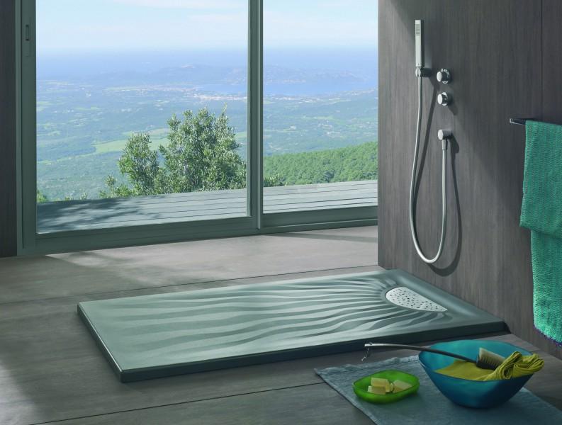 Receveur de douche salle de bains à poser EMBRUNS Allia