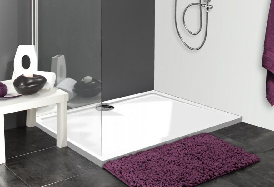 Receveur de douche à poser pour salle de bains POLYBETON d'Allibert