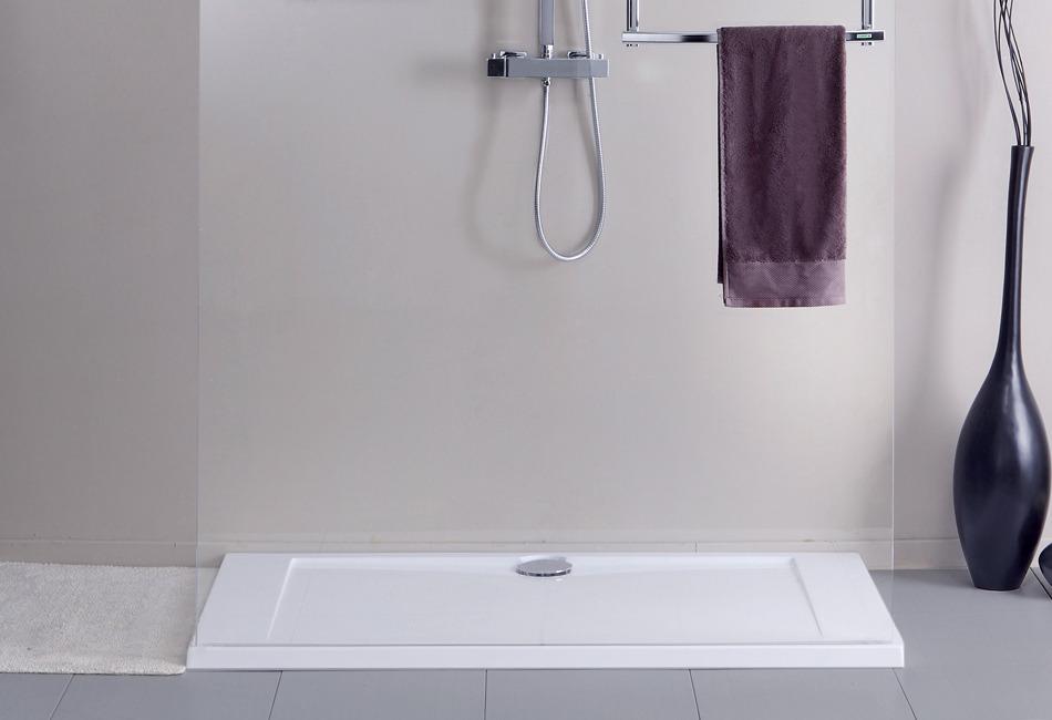 receveur de douche poser pour salle de bains prefixe d 39 aquarine. Black Bedroom Furniture Sets. Home Design Ideas