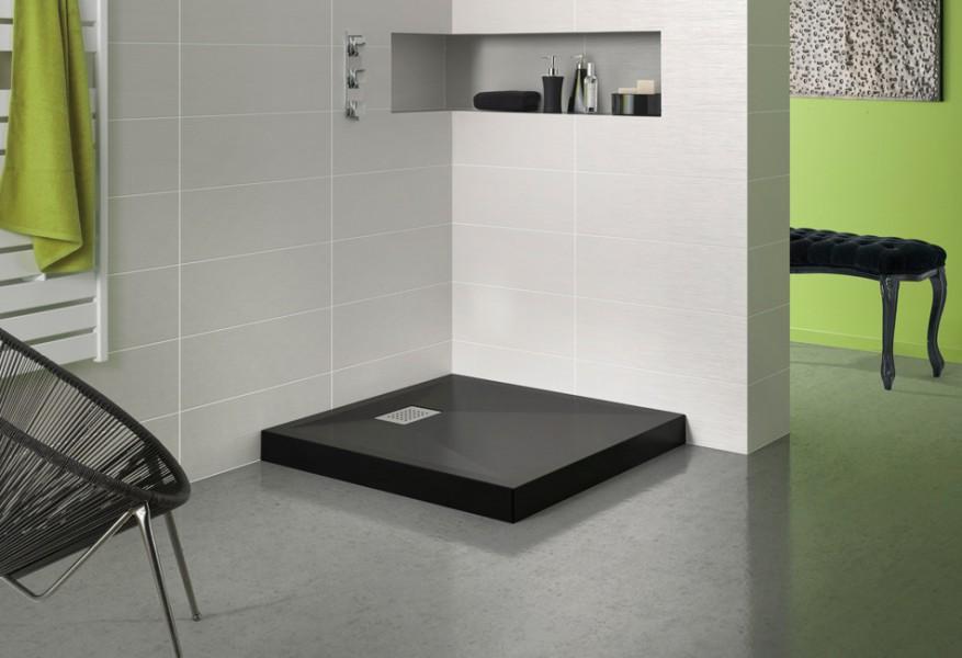 fiche produit de sdb receveur de douche poser. Black Bedroom Furniture Sets. Home Design Ideas
