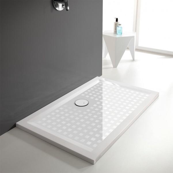Receveur de douche à poser pour salle de bains SPACE MINERAL de Leda