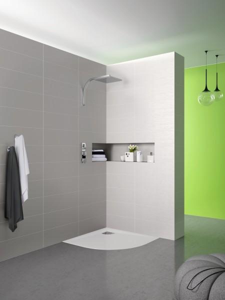 Receveur de douche d'angle arrondi pour salle de bains KINESURF PB de Kinedo