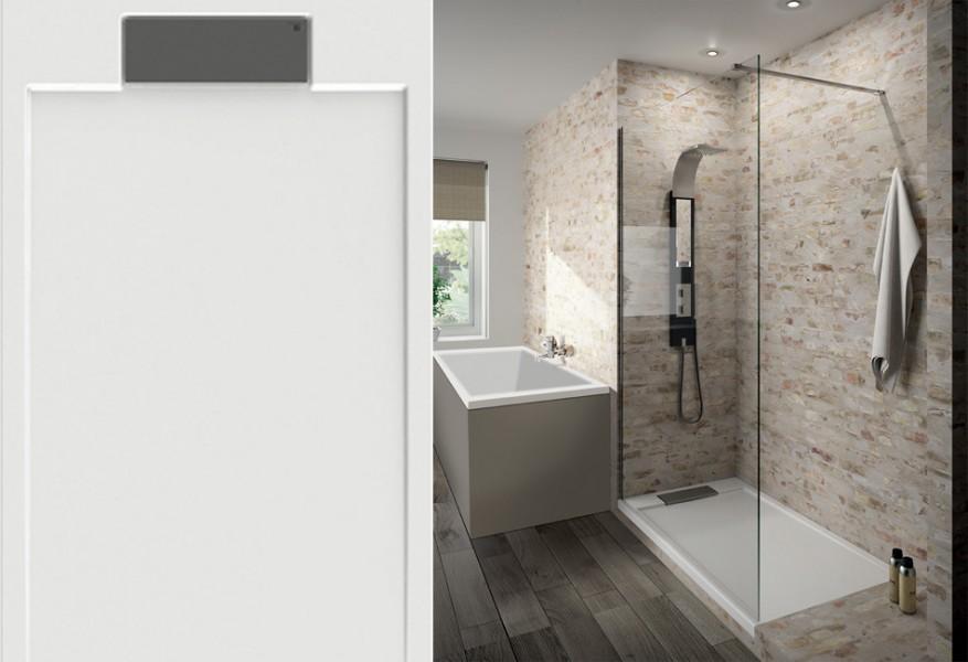 Receveur de douche extraplat pour salle de bains SERIO d'Aquarine
