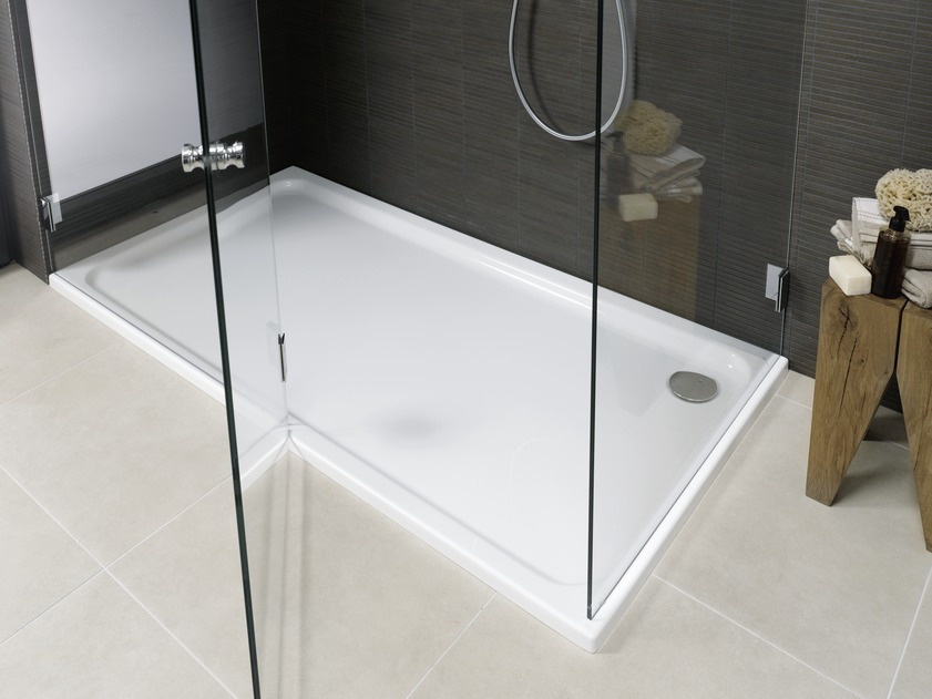 Receveur de douche grand format laufen solution salle de for Grand receveur de douche
