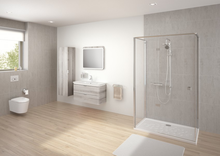 Receveur de douche grand format pour salle de bains OCEAN VitrA