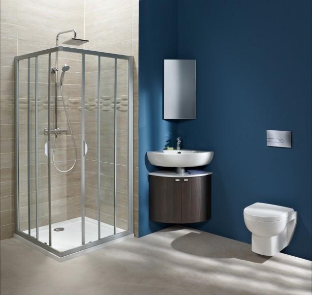 Lavabo d'angle pour salle de bains ODEON UP de Jacob Delafon
