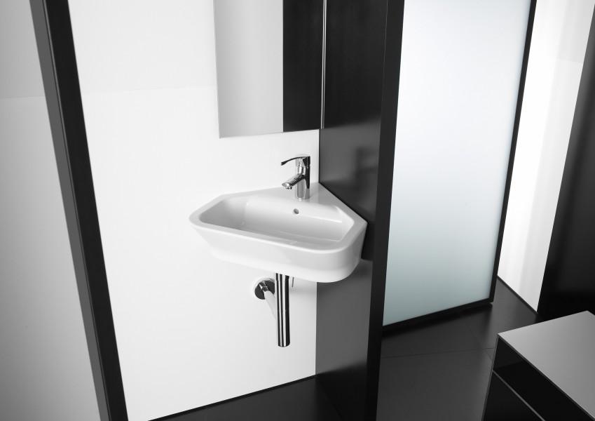 Lavabo d'angle pour salle de bains THE GAP de Roca