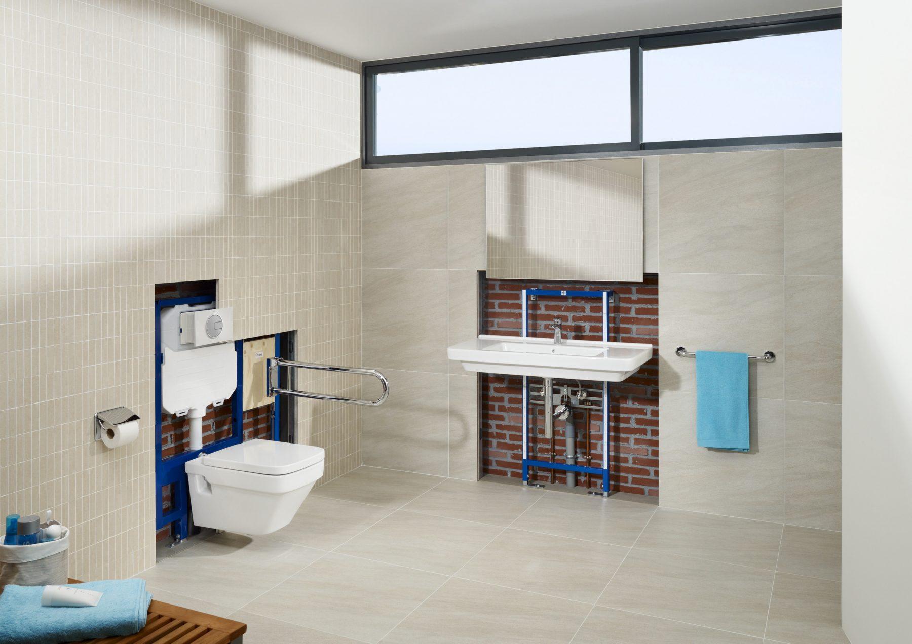 B ti support de lavabo de salle de bain fiche produit for Support de salle de bain