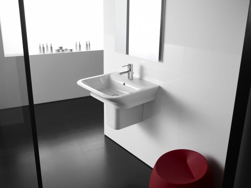 Lavabo cache siphon pour salle de bains THE GAP de Roca