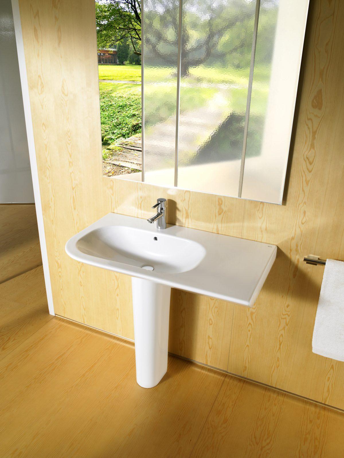 Lavabo colonne pour salle de bains NEXO de Roca ...