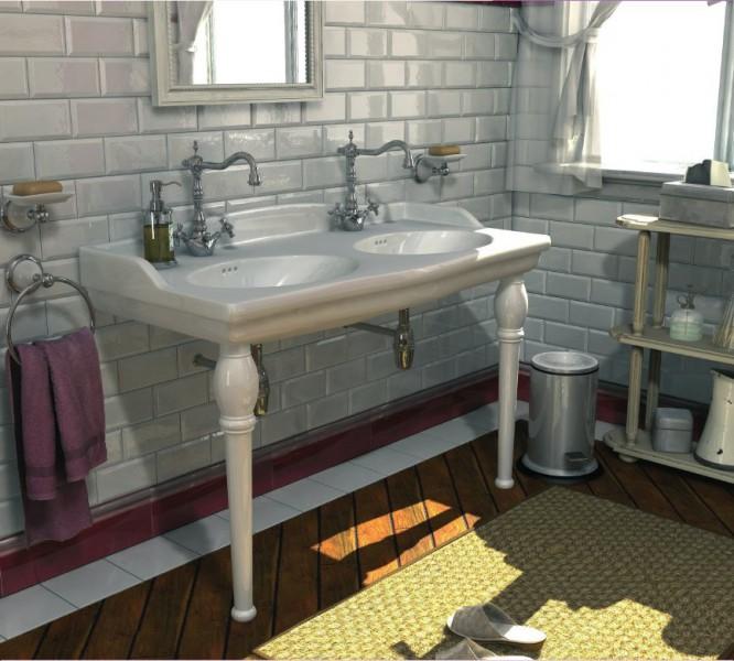 Lavabo console avec plan de toilette pour salle de bains LOUXOR d'Alape