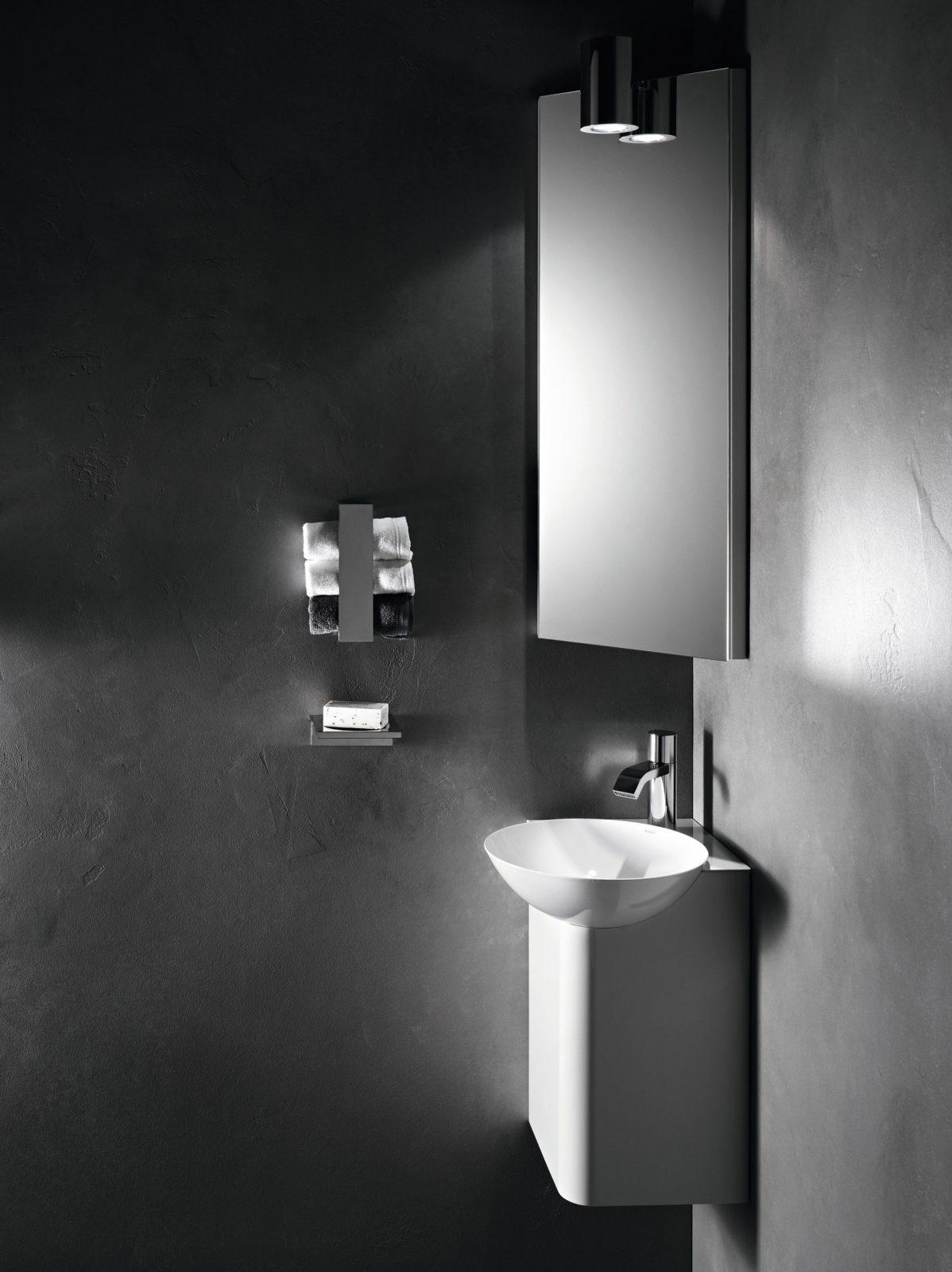 Lavabo lave mains d 39 angle insert d 39 alape salle de bains - Lavabo d angle salle de bain ...