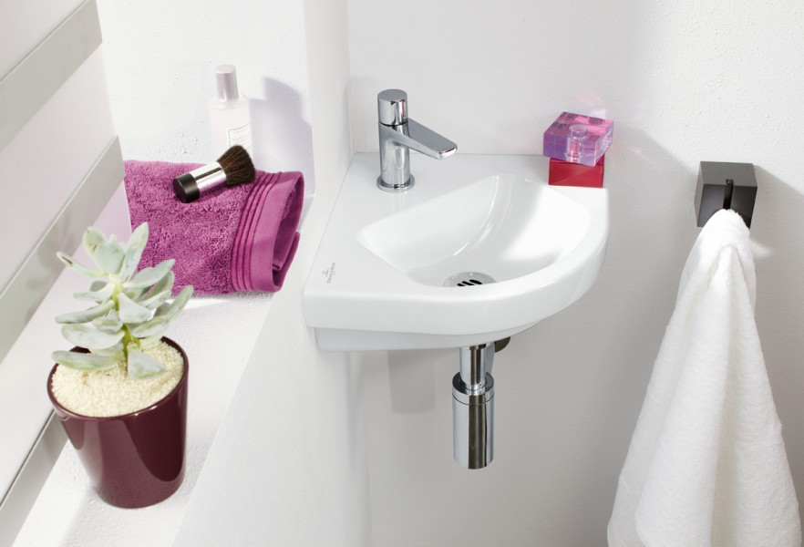 Lavabo lave-mains d'angle O.NOVO de Villeroy & Boch