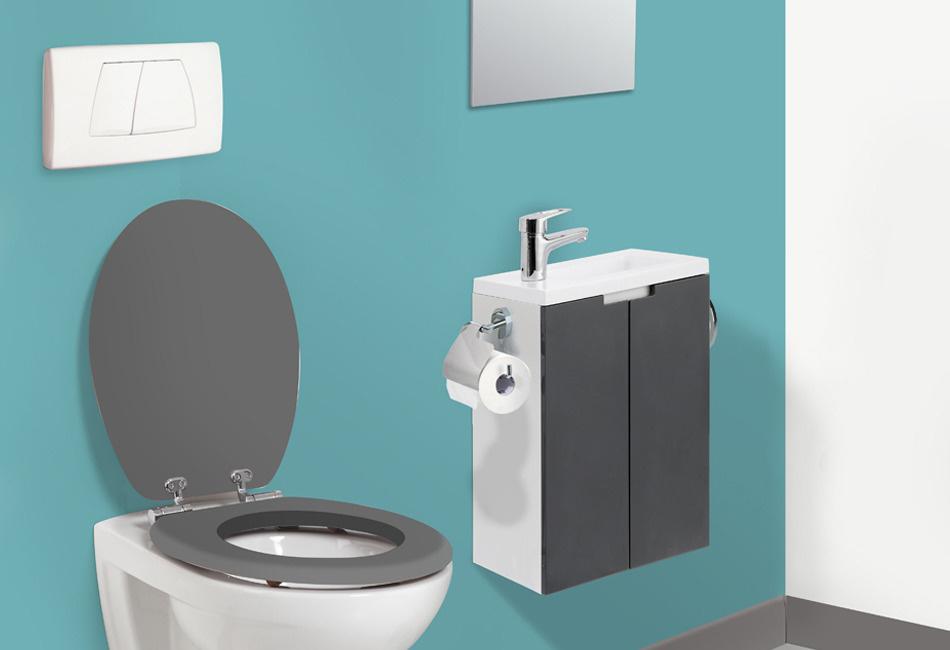 lavabo lave mains sur meuble closy d 39 allibert salle de. Black Bedroom Furniture Sets. Home Design Ideas