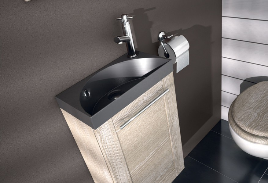 Lavabo lave-mains sur meuble COVENTRY d'Aquarine salle de bains