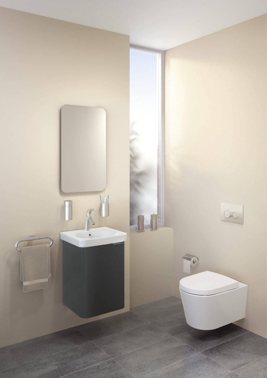 Lave mains sur meuble dans la salle de bain fiche for Meuble vitra