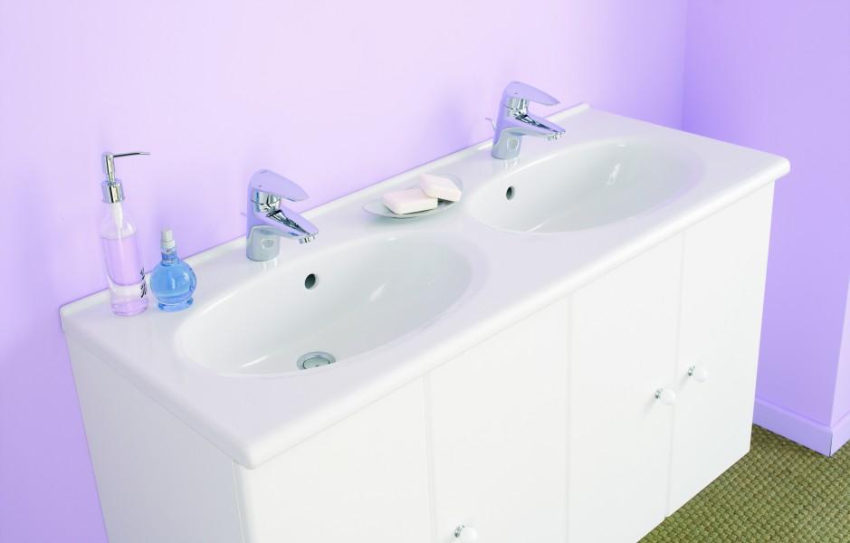 Plan de toilette salle de bains à poser FEDORA Allia