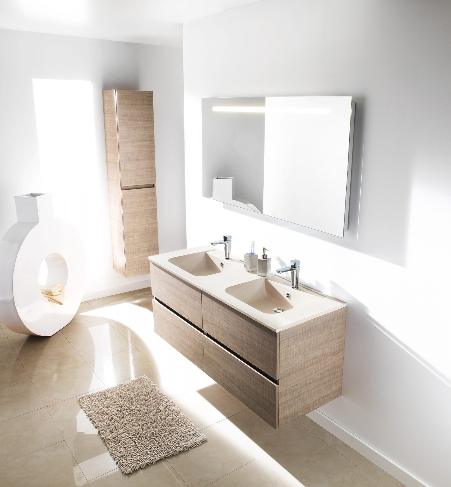 Lavabos plan de toilette poser sur meuble fiche for Meuble sur toilette