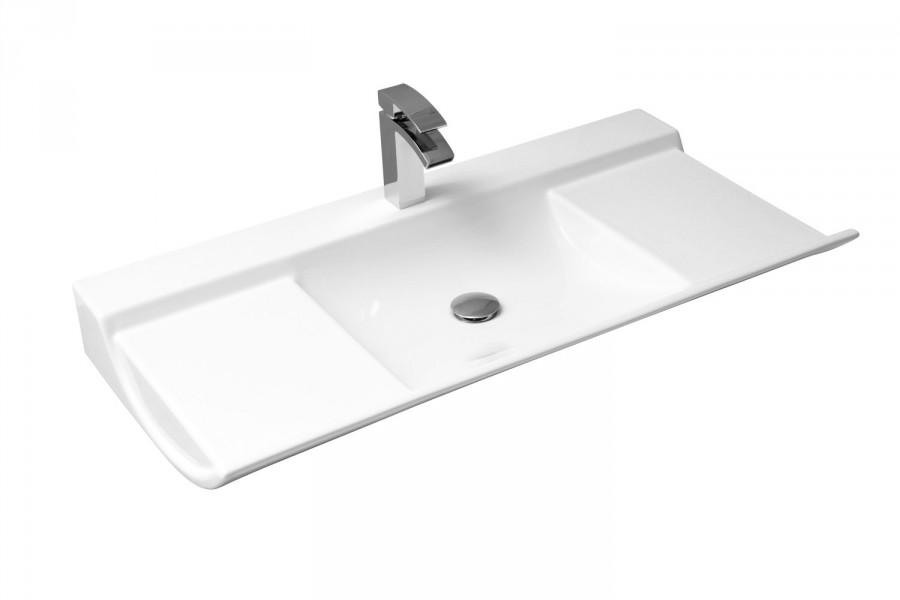 Lavabo plan de toilette autoportant pour salle de bains BAMBOO d'Alape