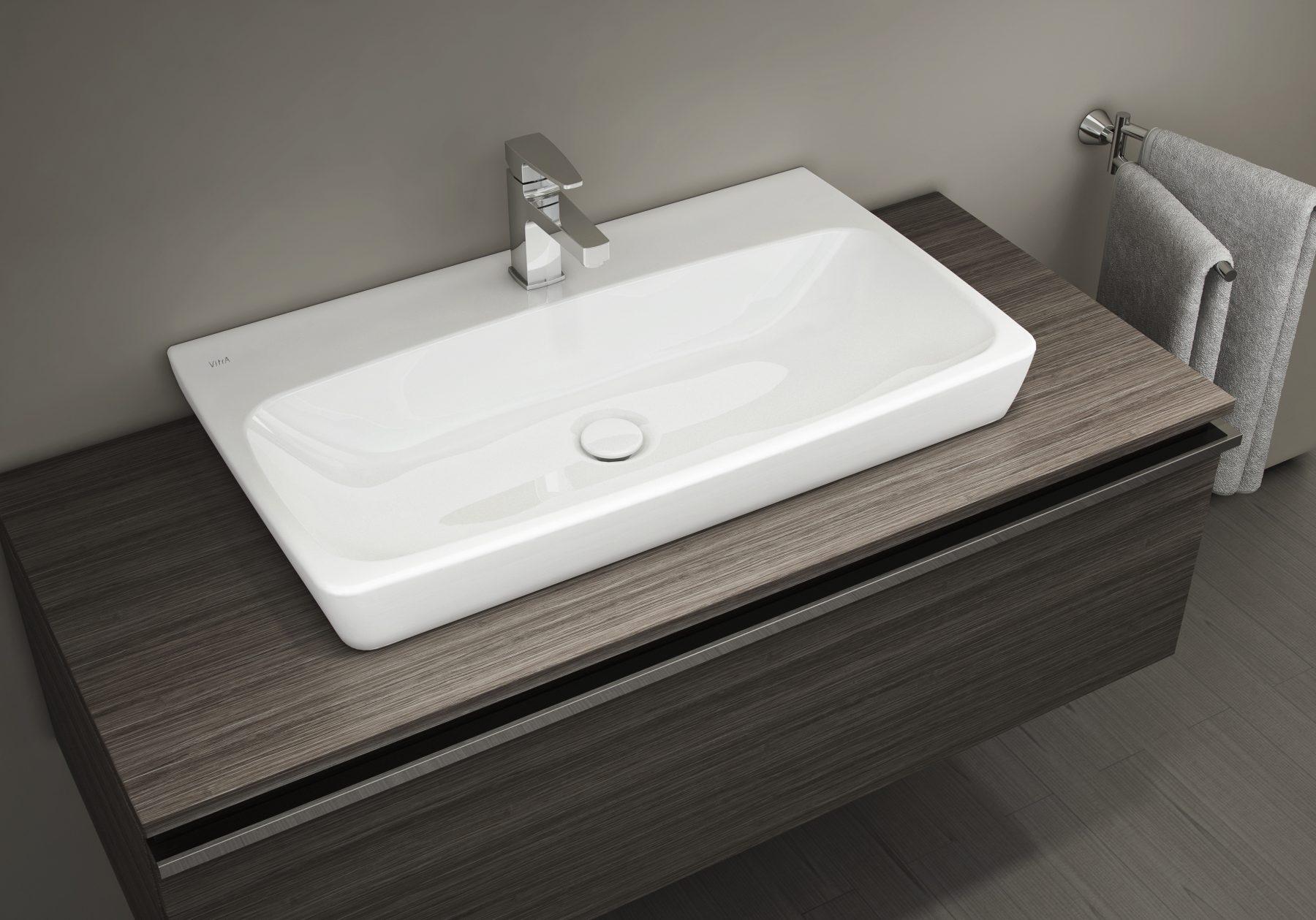 Lavabos poser dans la salle de bain fiche produit for Lavabo a poser salle de bain