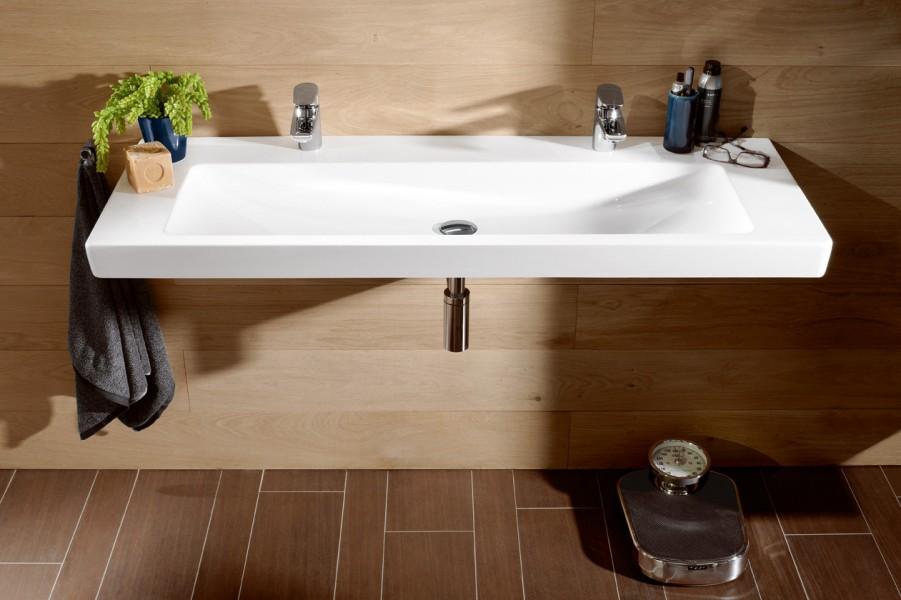 Lavabo plan de toilette autoportant pour salle de bains SUBWAY 2.0 de Villeroy & Boch