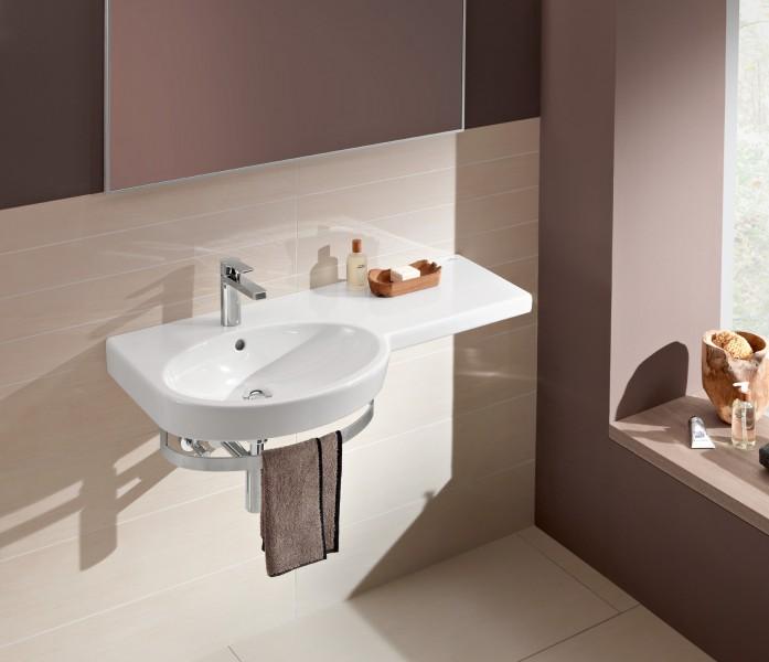 Lavabo plan de toilette asymétrique pour salle de bains VARIABLE de Villeroy & Boch